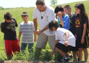 The Cherokee Language Immersion School also utilizes the traditional seed gardens for language instruction. Photo courtesy of Cherokee Phoenix