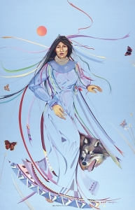 """Our Mother Earth"" by Muscogee artist Dana Tiger. For more of Dana's work, go to http://www.tigerartgallery.com/art/"