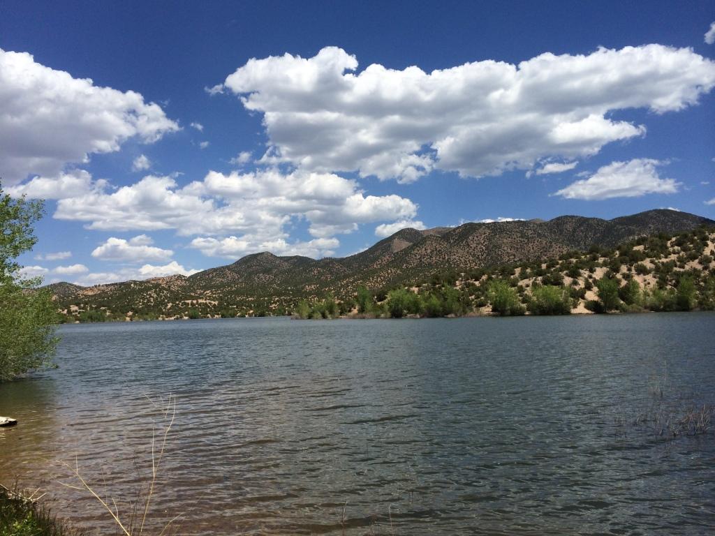 Reservoir at Nambe. Photo by Elizabeth Hoover