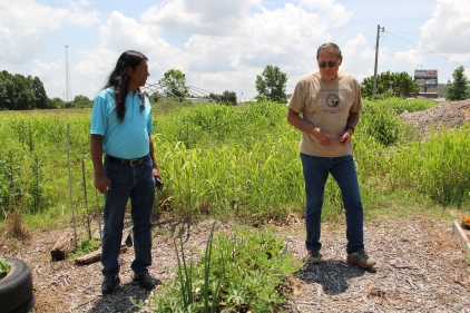 MFSI executive director Richard Belcer, and co-founder Bud Macomb at the Eufaula Indian Community Garden