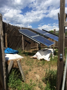 Solar array. Photo by Elizabeth Hoover