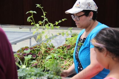 Stephanie and her daughter Emily in the Okmulgee greenhouse