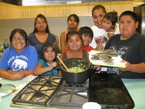 Cochiti Youth Experience cooking class
