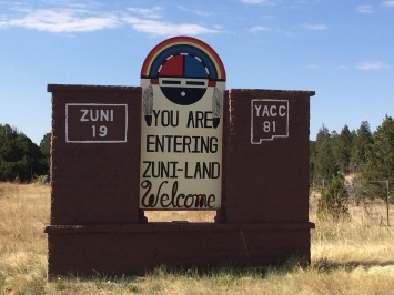 Entrance to Zuni. Photo by Elizabeth Hoover