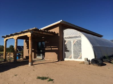 Seed bank, with greenhouse. Photo by Elizabeth Hoover