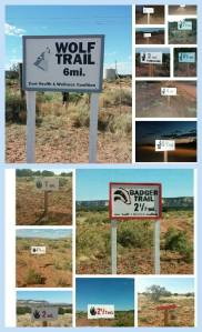 Trail signs created by Zuni Youth Enrichment Project