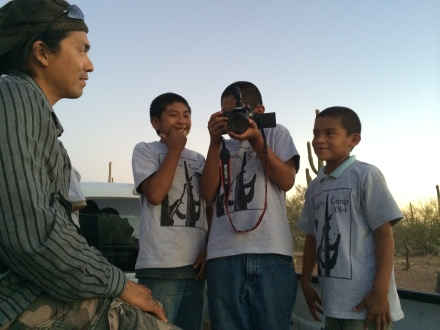 The next generation of Oodham reporters turns the camera on us. Photo by Elizabeth Hoover