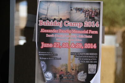 Bahidaj camp poster. Photo by Angelo Baca