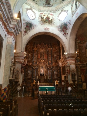 Inside the Mission San Xavier del Bac. Photo by Elizabeth Hoover
