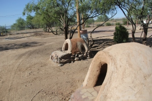 Earthen ovens used in education programming. Photo by Elizabeth Hoover