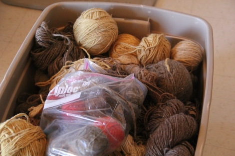 Yarns made from local wool and natural dyes. Photo by Angelo Baca