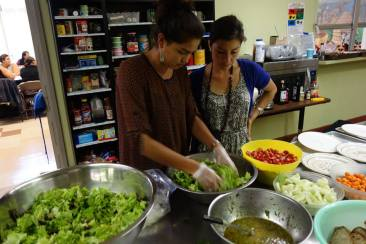 Kaylena and Deezba preparing food at the Intertribal Friendship House. Photo courtesy of TCC