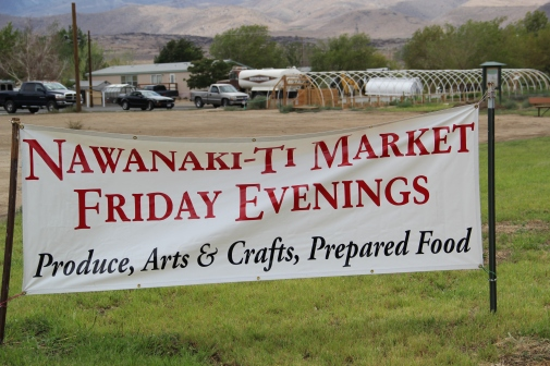 "Nawanaki-ti Market sign (""the place to gather items""). Photo by Angelo Baca"