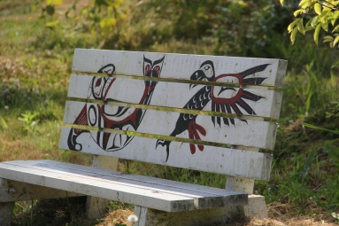 Decorative bench in the garden. Photo by Angelo Baca