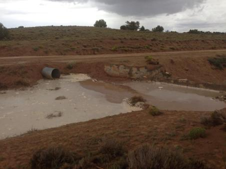 August 19-- the rains came, and the spillway works! Photo by Roberto Nutlouis