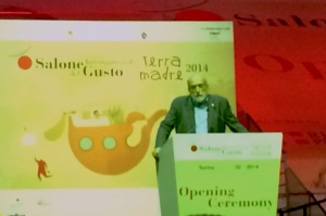 Carlo Petrini, president of Slow Food International. Photo by Elizabeth Hoover