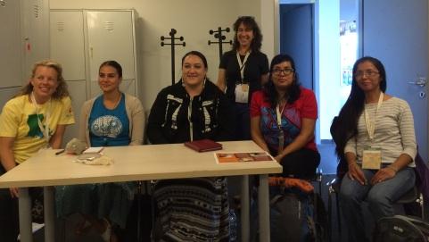 US delegate sponsored panel about Native food. Photo by Elizabeth Hoover