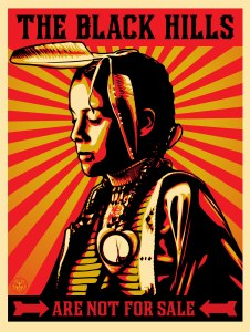 Art by Fairey Hills, photo courtesy of Honor the Treaties