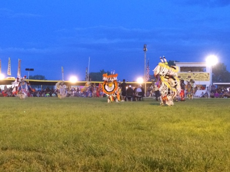 Fancy dancers at the Oglala Nation powwow. Photo by Elizabeth Hoover