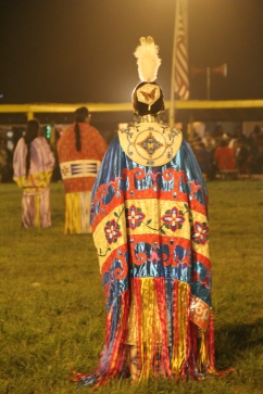Elizabeth Hoover dancing at the Oglala Nation powwow. Photo by Angelo Baca