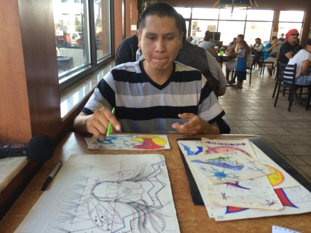 Ledger artist Quinton Maldonado. Photo by Elizabeth Hoover