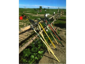 Tools provided to gardeners by SBAP. Photo courtesy of Slim Buttes Agricultural Project