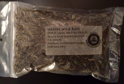 1 pound bag of wild rice. And the contact info if you want some too!