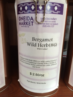 Bergamot for sale at Oneida Nation store. Photo by Elizabeth Hoover (August 2014)