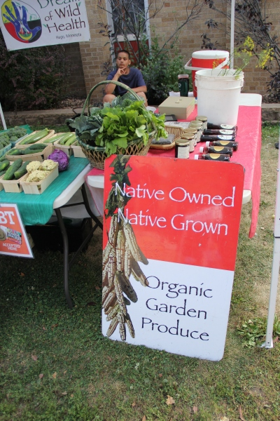 DOWH farmers market stand. Photo by Angelo Baca