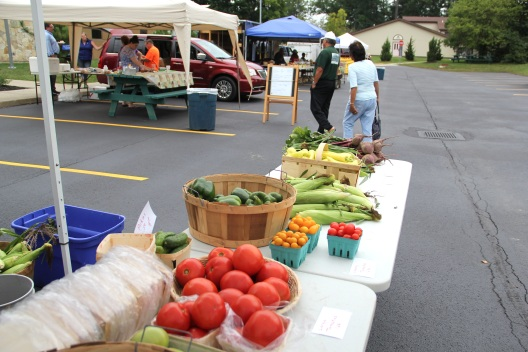 Vegetables for sale at the Seneca Nation farmers market. Photo by Elizabeth Hoover