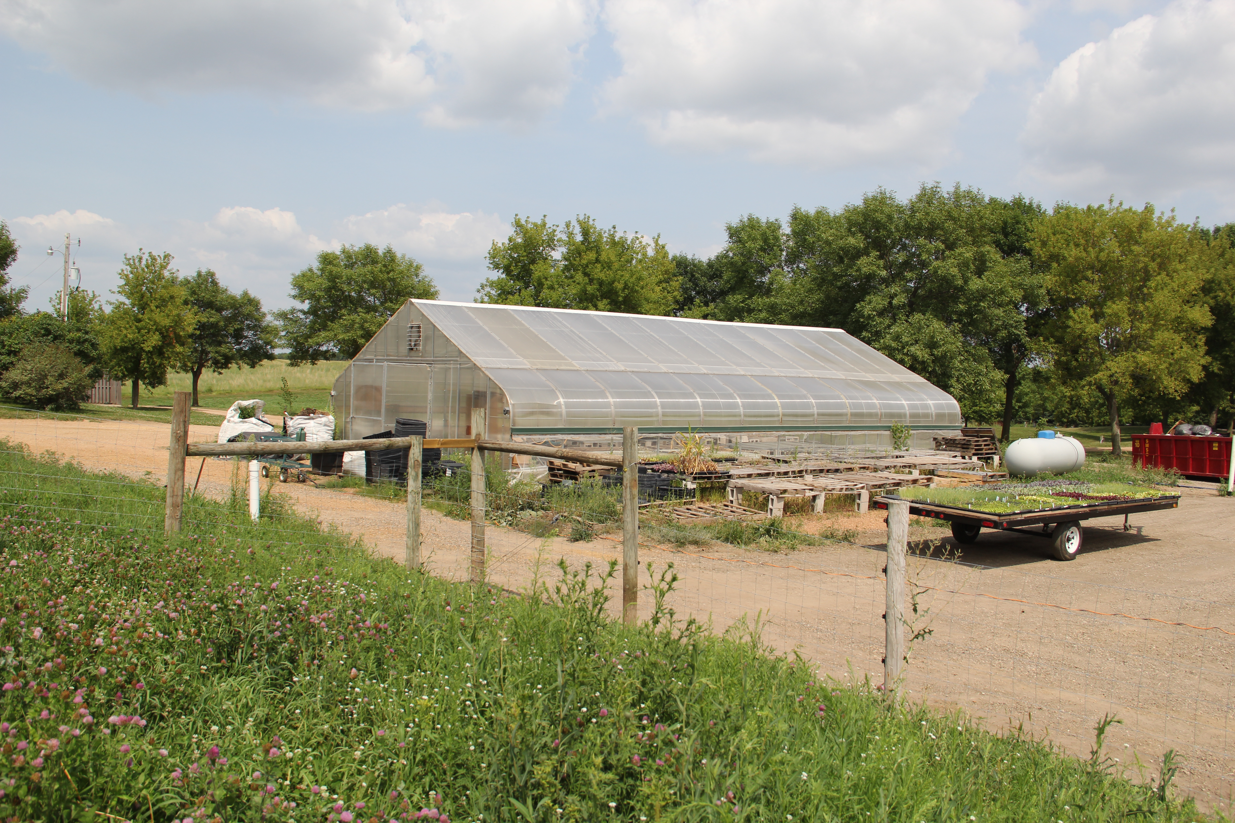 greenhouse where many of the plants get their start in the spring wozupi hosts a