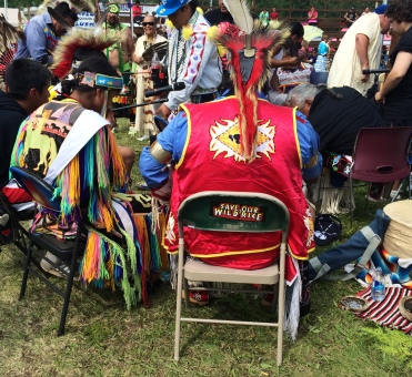 Powwow singers at Grand Portage powwow. Photo by Elizabeth Hoover