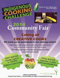 Indigenous Cooking Challenge. Poster courtesy of Food Is Our Medicine