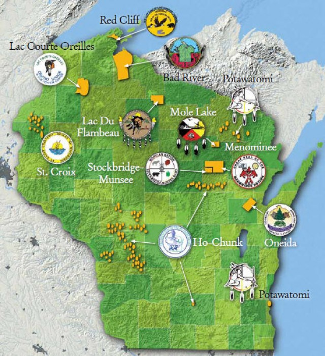 Wisconsin Tribes Map