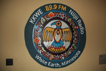 "In 2011, WELRP founded 89.3 KKWE Niijii radio, a station that features Ojibwe language, plays a variety of music, and explores history and stories of the community and Ojibwe language.  Zach conducts a weekly radio show ""Seed of the Week"" which featured Angelo and I while we were there. Photo by Angelo Baca"