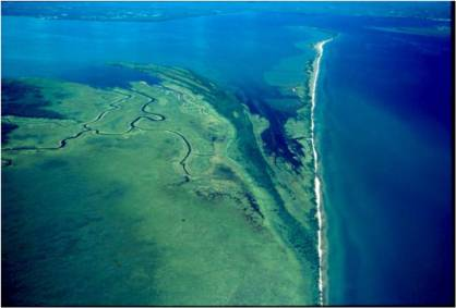 Bird's eye view of the Kakagon- Bad River Slough. Photo courtesy of Jim Meeker via the Bad River tribal website