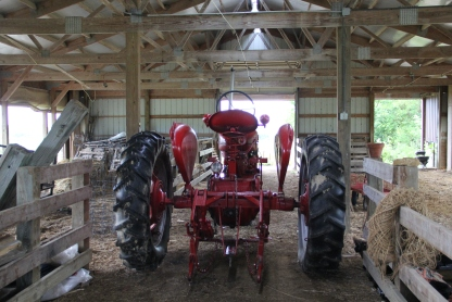 The Ho-Chunk garden project's trusty tractor. Photo by Elizabeth Hoover