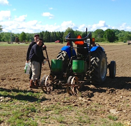 This past spring local farmer Greg Jimerson offered his tractor to plow up the field. Photo courtesy of Ken Parker