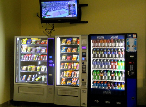 Vending machines inside the Cattaraugus Community Center. Photo by Elizabeth Hoover