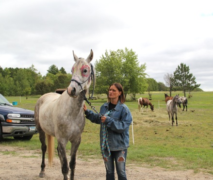 Amber Shaide (Ojibway) who owned many of the horses used on the trip. Photo by Elizabeth Hoover