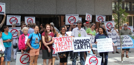 Outside of the Public Utilities Commission, August 7. Photo by Angelo Baca