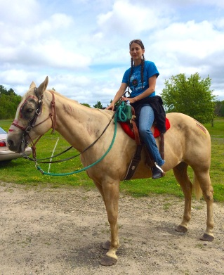 Riding my favorite horse of the crew, Brody.