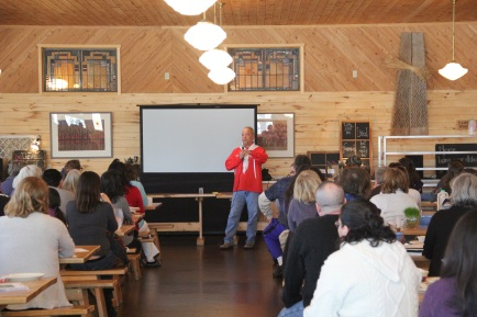 Dr Dan Longboat, Director of the Indigenous Environmental Studies Program at Trent University, gave a presentation titled