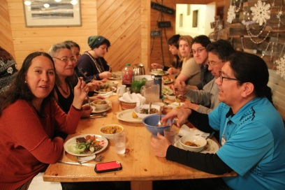 More happy people enjoying the good food! Photo by Elizabeth Hoover