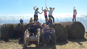 Clean up day at the LCOOCC farm. Photo courtesy of LCOOCC