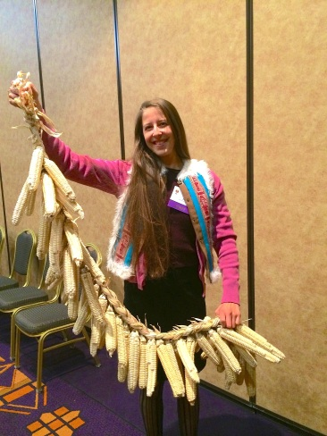 One of the conference organizers, Lea Zeise, Marketing and Logistics Specialist for the intertribal Agriculture Council. Photo by Elizabeth Hoover