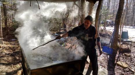 Maple sugaring on the Penoke range. Photo by Paul DeMain