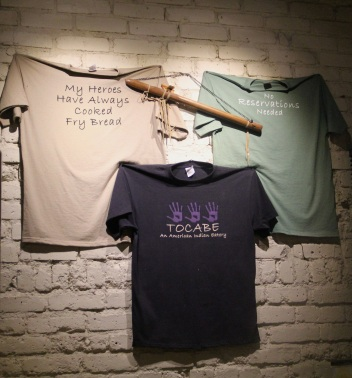 Shirts for sale in Tocabe. Photo by Elizabeth Hoover