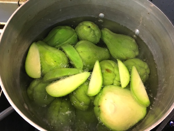 chayote squash. Photo by Elizabeth Hoover.