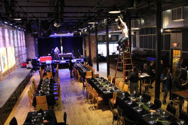 Bedlam Lowertown, setting up. Photo by Elizabeth Hoover